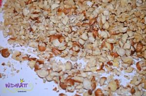Nusstörtchen gehackte Nüsse