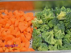 Pastetli Gemüse geschnitten