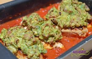 Poulet mit Avocado nach dem überbacken