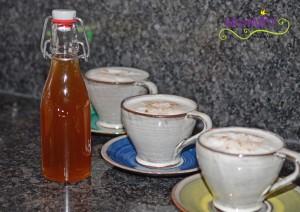 Chai Sirup angerichtet