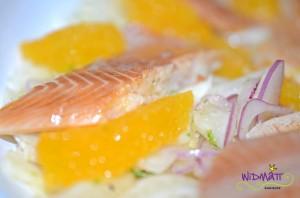 Fenchel Orangen Forellen Salat 1