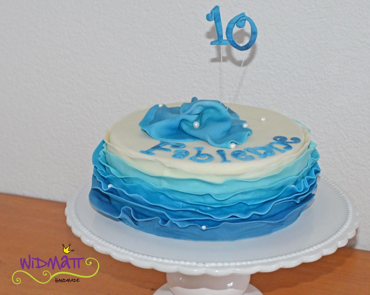 Torte In Wasser Optik Zum 10 Geburtstag Widmatt Atelierwidmatt Atelier