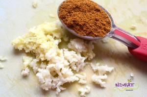 Lauchkuchen Knobi Ingwer curry
