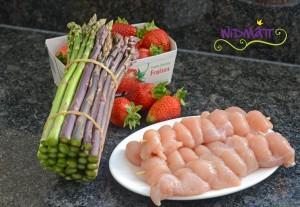 Spargel salat einkauf
