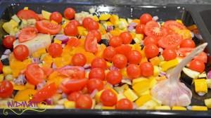 Sommergemüse aus dem Ofen vor dem garen