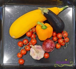 Sommergemüse vom Blech Gemüse