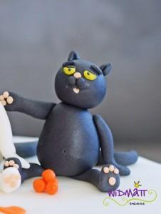 Katzentorte schwarze