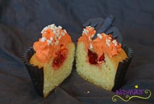 Halloween Cupcakes angeschnitten