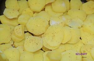 Raclett aus dem Ofen Kartoffeln