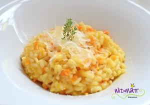 Orangen Risotto mit Rüebli