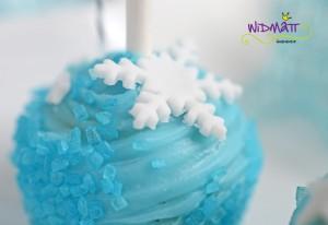 Cake Pop mit Schneeflocke klein