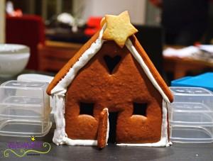 Lebkuchenhaus gebaut