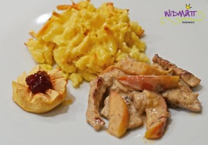 widmatt.ch Kalbfleisch an Calvadossauce