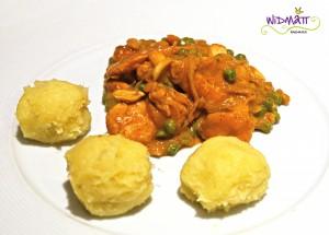 widmatt.ch Pouletcurry in Erdnuss-Sauce mit Fufu