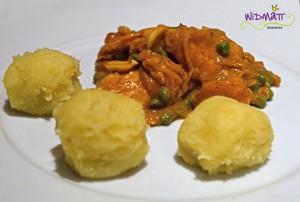 widmatt.ch Hühnercurry in Erdnuss- Sauce mit Fufu