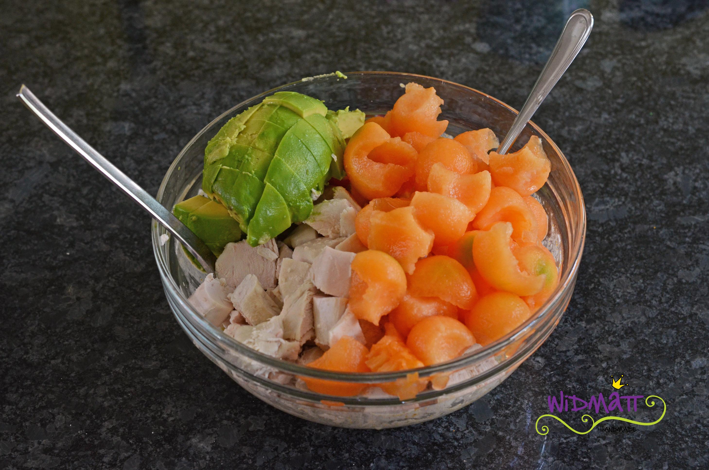 poulet salat mit melone avocado an currysauce widmattwidmatt. Black Bedroom Furniture Sets. Home Design Ideas