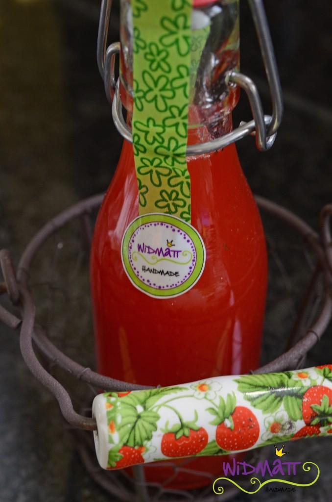 widmatt.ch Erdbeer-Limetten Sirup