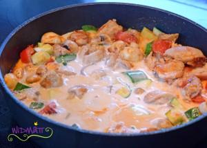 Sommer Curry mit Pouletragout 4