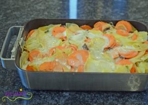 Kartoffelgratrin mit Pilze 4