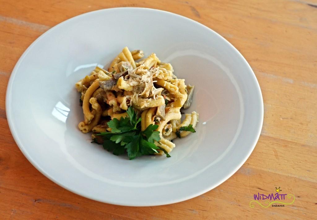 © widmatt.ch Artischockensauce an frischer Pasta