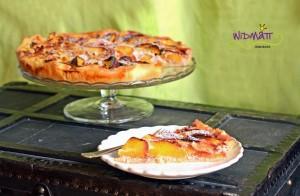 © widmatt.ch Nektarinen Kuchen mit Himbeerjoghurt
